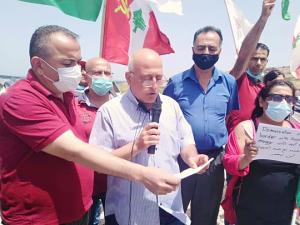 الشيوعي من الناقورة: رفضاً لمفاوضات ترسيم الحدود مع العدو الصهيوني