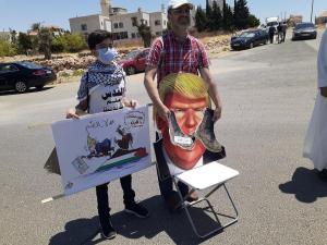 عمَّان: وقفة احتجاجية أمام السفارة الأمريكيّة رفضًا لمُخطّط الضم