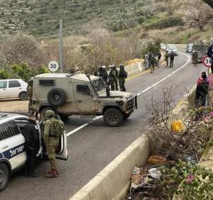 نابلس: مواطنون يتصدون لاقتحام عشرات المستوطنين لخان اللبن الشرقية