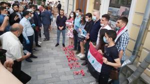 وقفة تضامنية أمام مبنى السفارة اللبنانية في موسكو