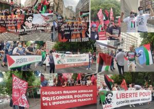 إعلان جورج عبد الله خلال التظاهرة الوطنية في باريس في 19 حزيران 2021 التي نظمتها الحملة الموحدة لتحرير جورج عبد الله
