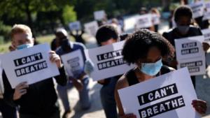 احتجاج أمام السفارة الأمريكية لدى باريس تضامناً مع فلويد ومناهضة للعنصرية
