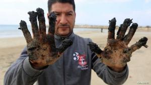 تسرب نفطي قبالة فلسطين المحتلة يصل إلى شواطئ غزة
