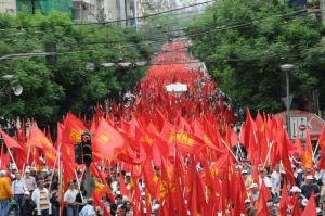 """بيان """"الشيوعي اليوناني"""" حول التظاهرات في الولايات المتحدة الأمريكية"""
