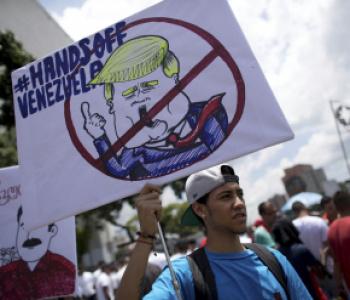 لا أهلاً ولا سهلاً برمز التآمر على فلسطين وفنزويلا